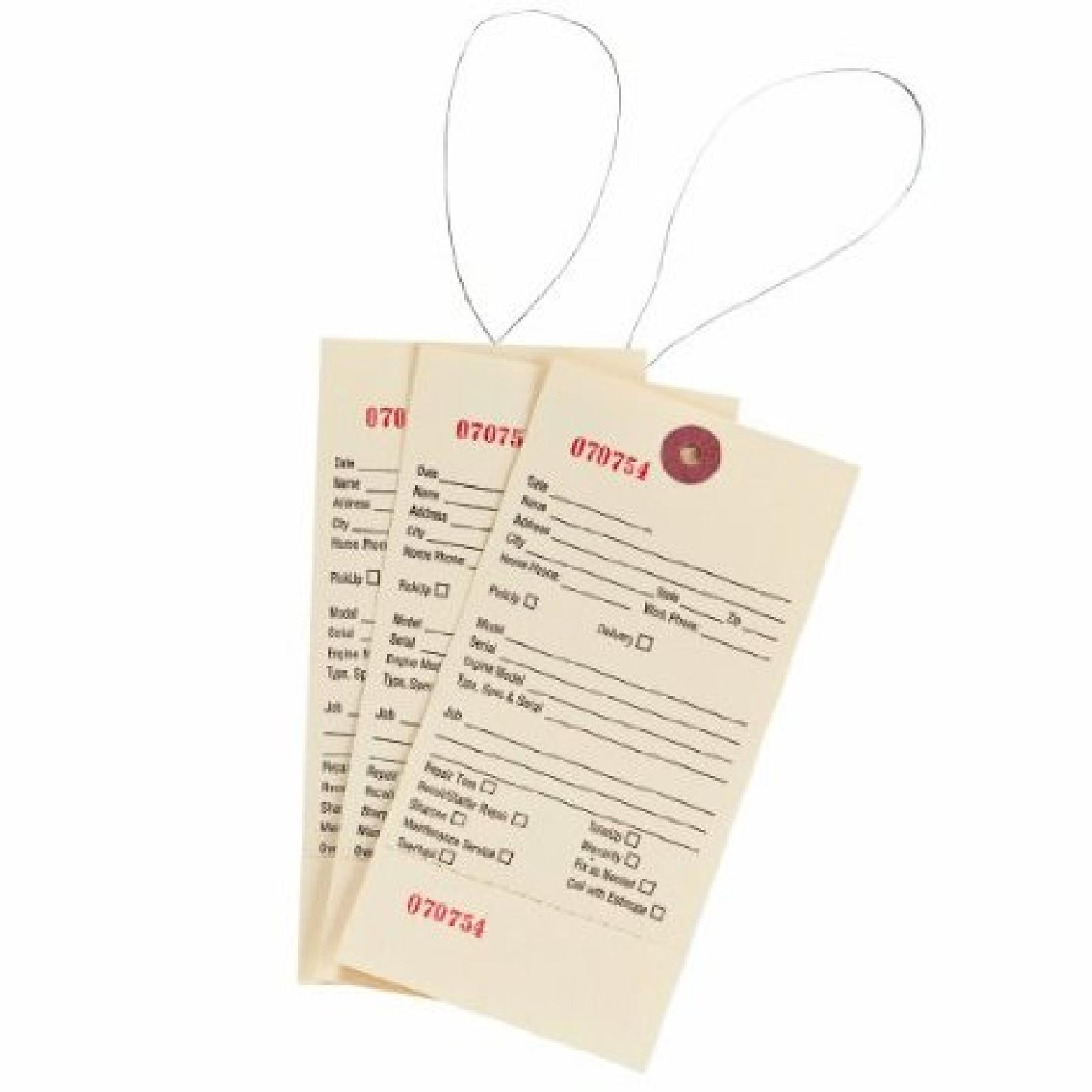 SERVICE TAGS 500 COUNT PE part# 10-002 by Oregon