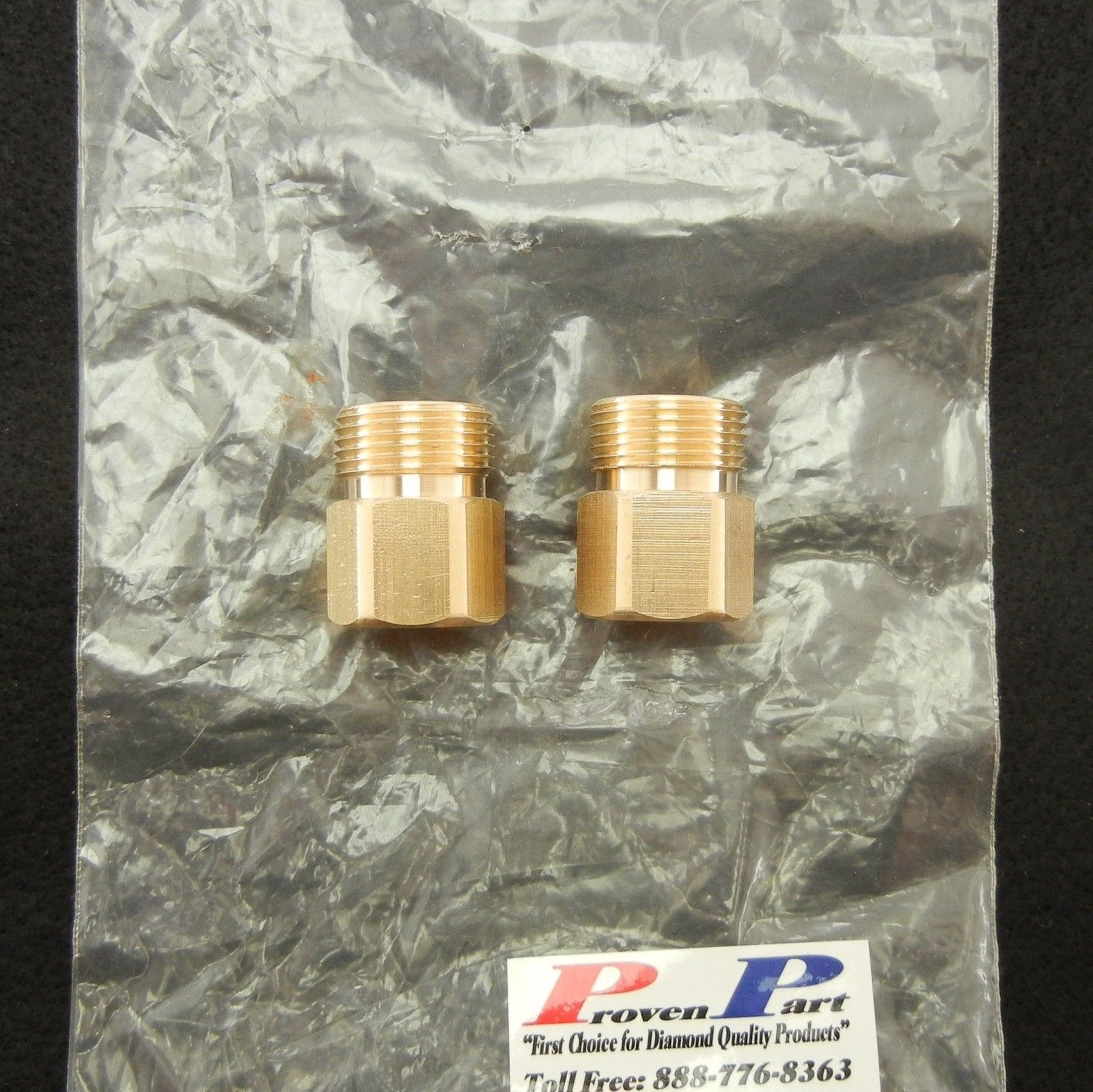 "SCREW-TYPE DISCONNECT FITTING 1/4"" FEMALE M22MALE BRASS T"